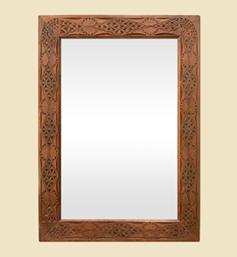miroir-ancien-bois-scultpte-decor-orientaliste