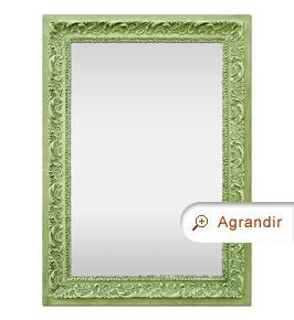 Miroir ancien couleur vert patiné