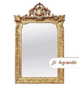 miroir-ancien-dore-a-fronton-style-napoleon-III-circa-1880