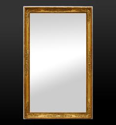 Miroir ancien doré époque restauration