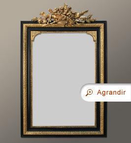 Miroir napol on iii fronton coquille miroirs anciens for Miroir napoleon