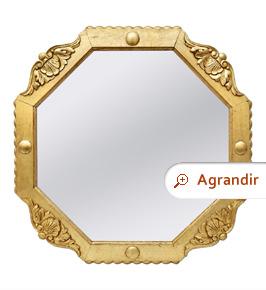 miroir-ancien-octogonal-bois-dore-circa-1940
