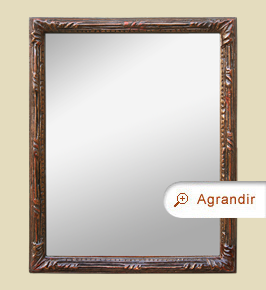miroir-ancien-patine-marron-rouge-decor-stylise