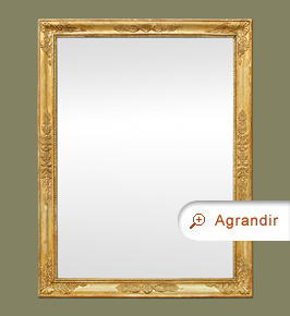 Miroir ancien style empire doré d'époque