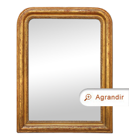Miroir doré ancien style Louis-philippe