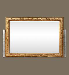 miroir-art-nouveau-or-et-argent