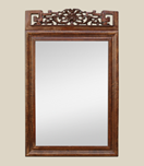 Miroir fronton style asiatique
