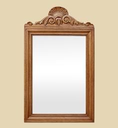 miroir-bois-ancien-a-fronton-coquille