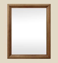 Miroir bois ancien chêne clair massif mouluré