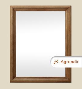 Miroir bois ancien chêne massif clair mouluré