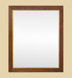 Miroir bois de chêne clair gorge dorée