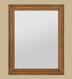miroir-bois-chene-clair-decor-cannelure