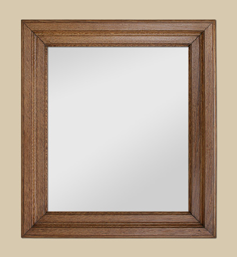 Miroir bois chêne clair mouluré