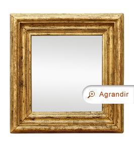 Miroir bois doré ancien moulure ancienne patiné vieilli