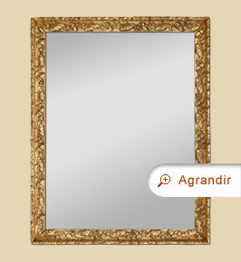 Miroir ancien bois doré vieilli style Art Déco