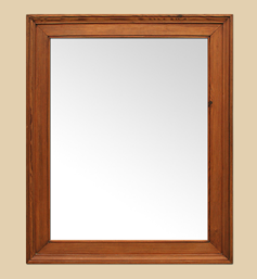 Miroir bois pitchpin naturel blond