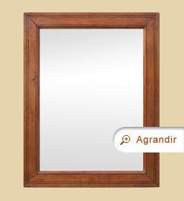 Miroir bois ancien pitchpin époque 19ème siècle