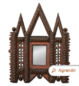 Miroir bois sculpt style oriental miroirs anciens - Miroir style oriental ...