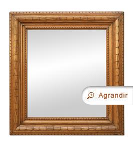 Miroir bois sculpté ancien Art populaire Breton