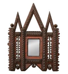 Miroir bois sculpté oriental