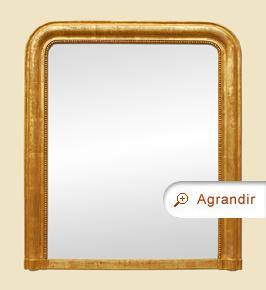 Miroir cheminée doré ancien style Louis Philippe