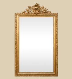miroir-cheminee-dore-fronton-rocaille-style-louis-xv