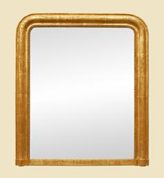 miroir-cheminee-louis-philippe-dore-ancien-deco