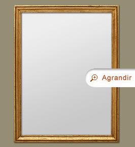 Grand miroir chemin e moulur dor miroirs anciens for Grand miroir cuivre