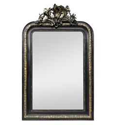 miroir-cheminee-noir-dore-napoleon-3