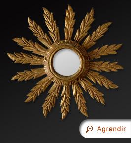 Miroir rond miroirs anciens for Glace soleil miroir