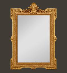 Miroir doré à coquille style Napoléon III