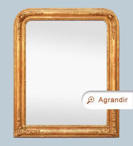Miroir doré ancien style romantique