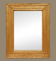 miroir-dore-cannelures-ancien