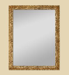 Miroir doré décor Art déco