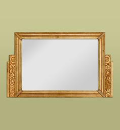 Miroir doré décor stylisé Art déco