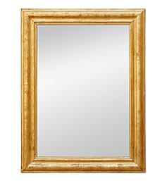 Miroir doré époque Louis-Philippe moulure droite