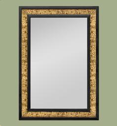 Miroir doré et noir style Art Nouveau