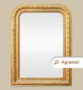 Miroir doré Louis Philippe ancien décor stylisées et perles
