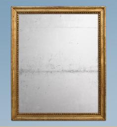 Miroir doré époque Louis XVI glace au mercure