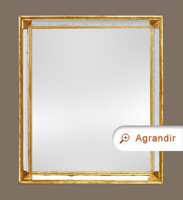 Miroir doré ancien à parecloses années 60 - 70