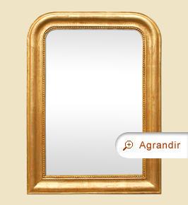 Miroir doré patiné ancien Louis Philippe