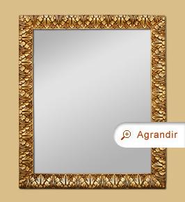 Miroir doré patiné décor style italien