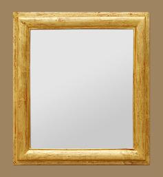 Miroir doré patiné dorure à la feuille