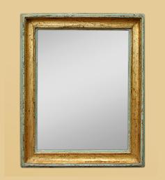 Miroir doré patiné style provençal