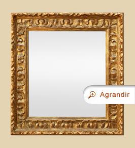 Miroir doré bois sculpté style espagnol ancien