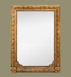 Miroir ancien cheminée style napoléon III