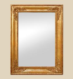 Miroir doré style restauration époque fin XIXème