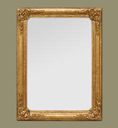 Miroir doré ancien style romantique à coquilles