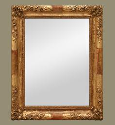 Miroir doré style romantique