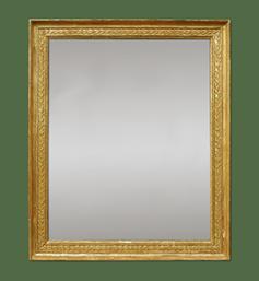 miroir-empire-d-epoque-bois-dore-glace-ancienne